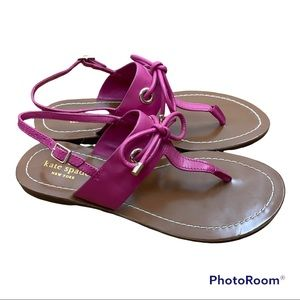 Kate Spade Pink Leather Sandals 7.5
